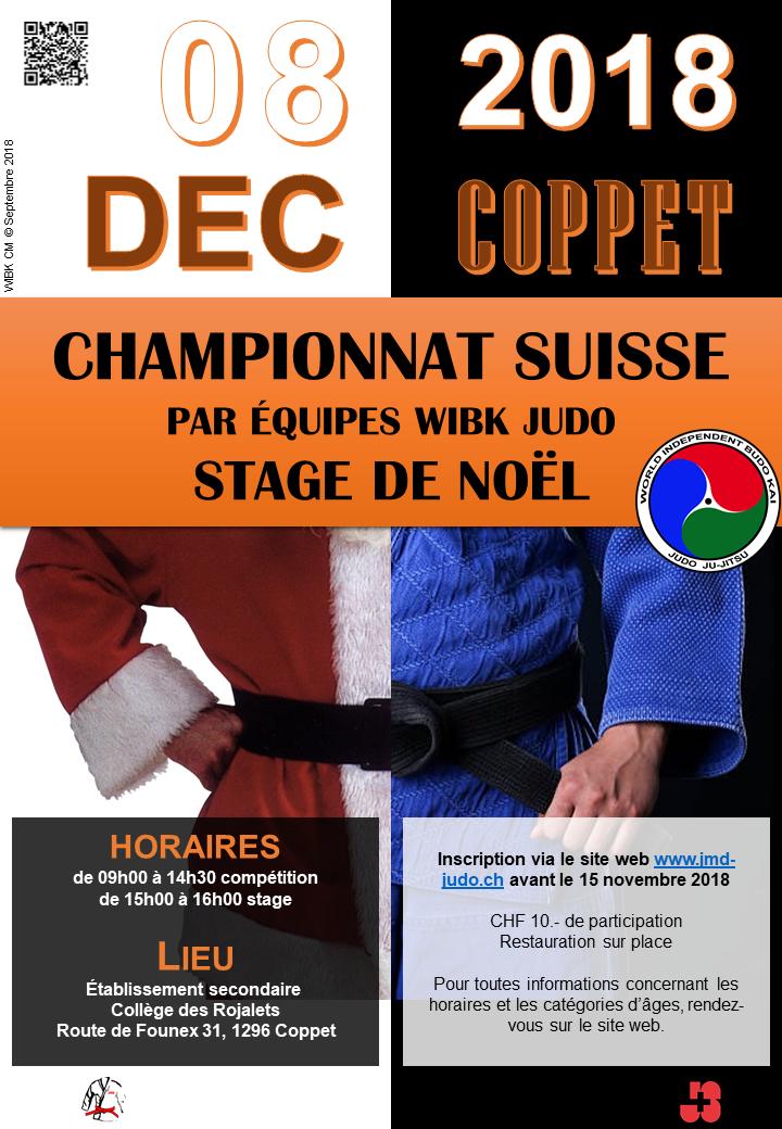 Championnat Suisse WIBK Judo par Equipe @ Gymnase des Rojalets - Collège Secondaire de Terre Sainte