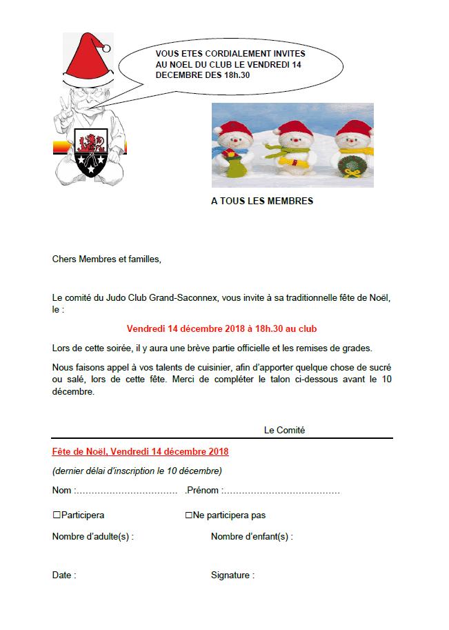 Fête de Noël au Judo Club Grand-Saconnex @ Salle de judo du Pommier